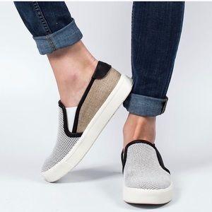 VINCE Bram leather trim mesh slip on sneaker 5.5
